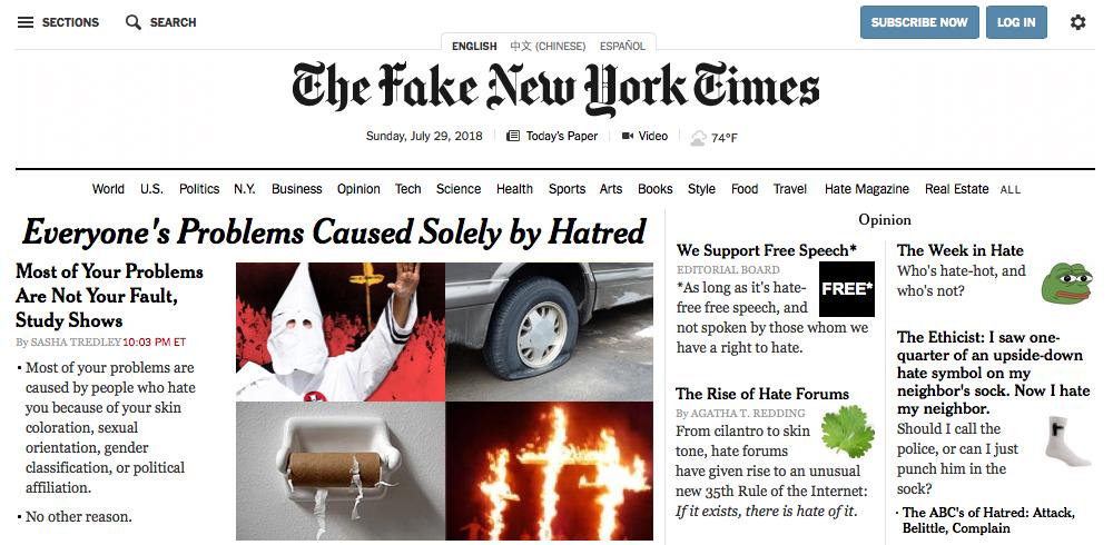 Fake New York Times 3