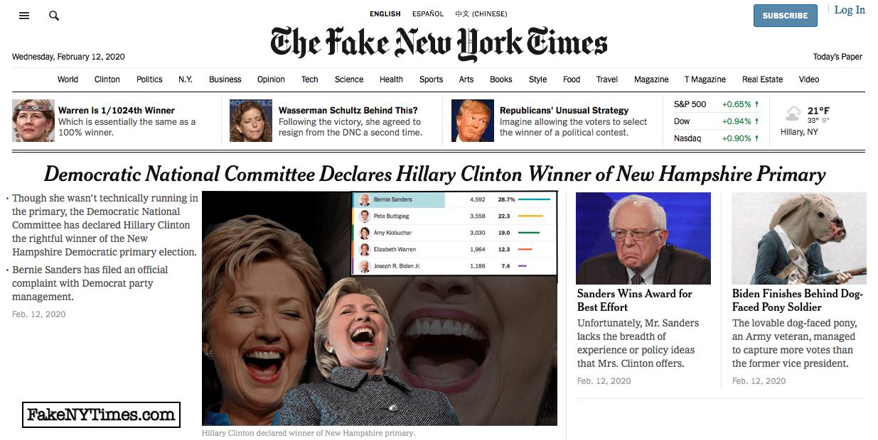 Fake New York Times 85