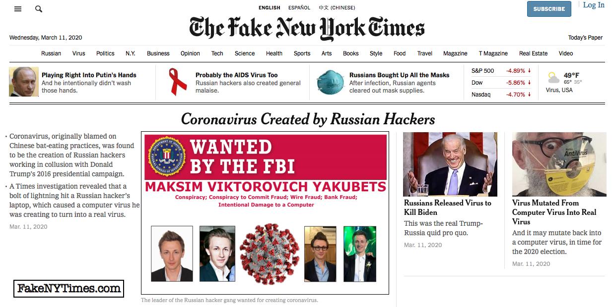 Fake New York Times 89