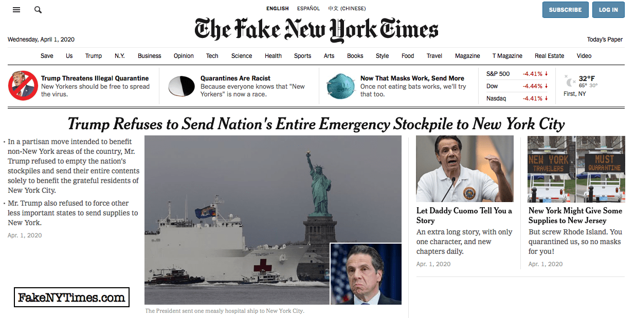 Fake New York Times 92