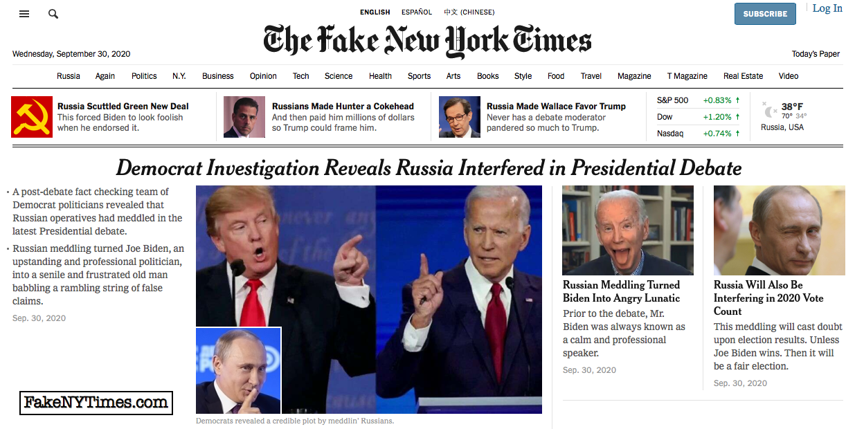 Fake New York Times 118