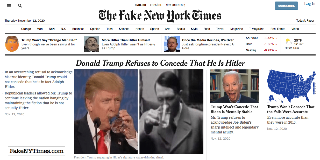 Fake New York Times 124
