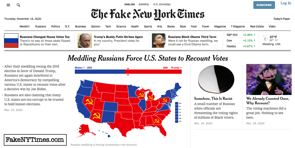 Fake New York Times 125