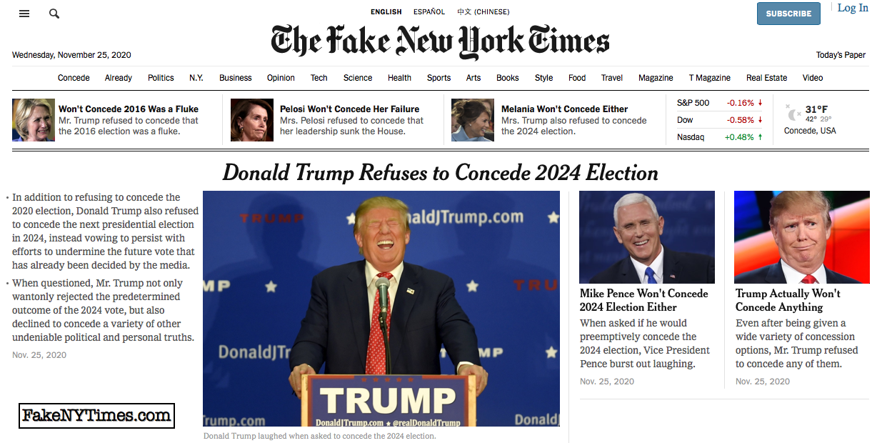 Fake New York Times 126
