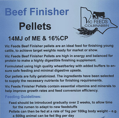 Beef Finisher Pellets