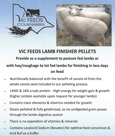 Lamb Finisher Pellets