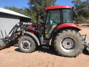 Case JX 80 Tractor with FEL
