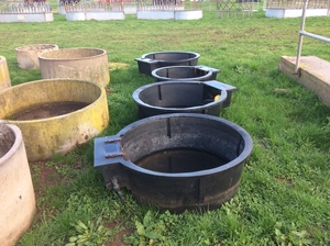 4 x Plastic Water Troughs