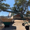 "Under Auction - CONVEYOR 8 metre x 500mm Portable Conveyor on 14"" Wheels Electric Drive.  Adjustable Height"
