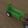 New AXON VB1000 single axle 16Mt manure spreader For Sale