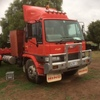 2005 Case WDX 1902 SP Windrower with 1994 hino truck for transport