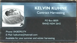 Kelvin Kuhne Contract Harvesting