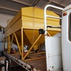 2103 MDL SEED & SUPER BIN & TRUCK- Approx 8 tonne capacity, two bins, two 5hp engines, Roll over Tarp.