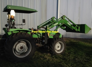 75-125hp tractor with FEL. ROPS or cabin.