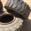 2 x Industrial Loader tyres, 20.5-25, Tread varies on both tyres
