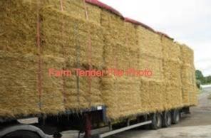 50mt Wheaten Hay 8x3x3 Bales + Freight