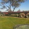 41 foot White Hamilex convertible triaxle trailer