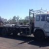 1989 Hino Rigid Bogie Drive Tray Truck with Crane For Sale