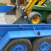 Kanga with tipper trailer full of attachments ,auger,spreader,ramps,forks,trencher nsw rego on tip trailer dual axle
