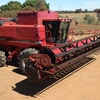 2002 CASE IH 2388 Rice Header For Sale with 1010 Front and Finger Tyne Reel
