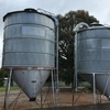 2 x Nelson Silo's Approx 140 Bags With Blower Shoots On Them.