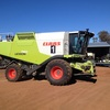 Claas 750 header with 40ft Macdon Draper front