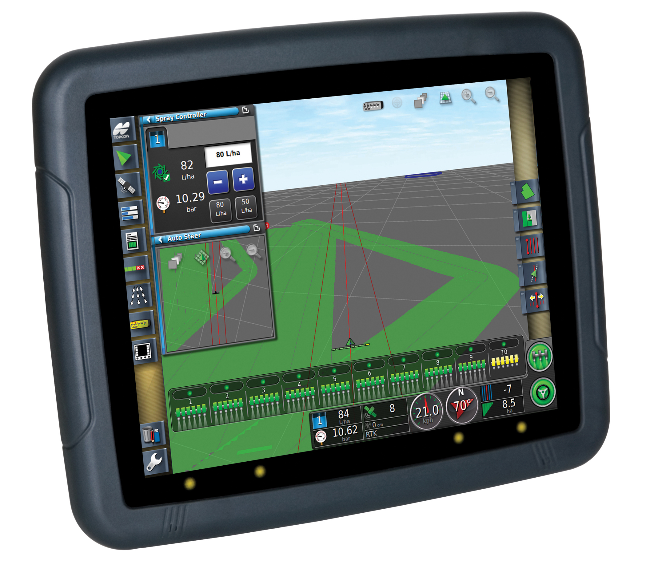 topcon system 350 rtk gps with base station machinery. Black Bedroom Furniture Sets. Home Design Ideas