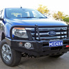 MCC 4X4 707-02  steel bull bar with under plate. To suit Ford Ranger PX
