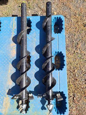 Auger set 200mm & 250mm Double Start Tungsten Teeth 1300mm Long 50mm Round Hub