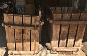 Antique Wooden Wool Press