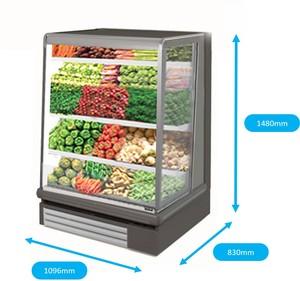 Open display fridge for fruits, vegetables, drinks, etc.