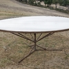 Round wool table