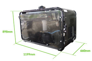 70CFM Rotary Screw Compact Mobile Air Compressor - Petrol
