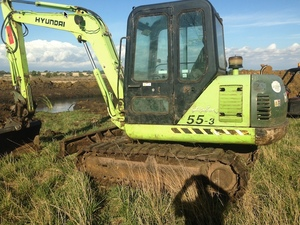 Hyundai 5.5 ton excavator quick hitch & swivel hitch