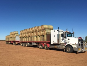 Oversize loads of baled agricultural commodities