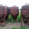3 x poly hoppers with steel frame's