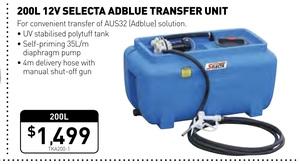 200L Ad Blue Tank with 12v Pump