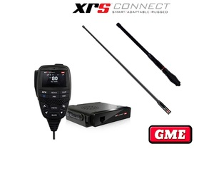 GME XRS-370C4P XRS Compact 5 WATT UHF Connect 4WD Pack + Free Bonus Antenna Valued at $189.95 !