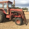 International 766 Tractor with FEL, Bucket & Hay Forks