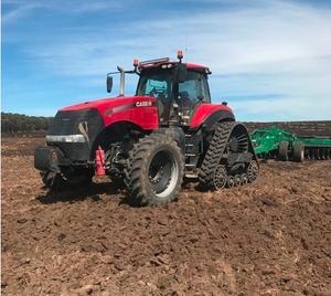 Case IH 380 CVT Rowtrac tractor - brand new tracks