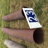 Under Auction (A129) - 2 x Steel Pipes 3.1m / 4.2m x 43cm - 2% + GST Buyers Premium On All Lots