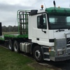 Mercedes Benz 2643 ACTROS Cab Chassis w Krueger drop deck trailer: 45 foot tri-axle For Sale