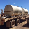 Freighter 34ft bogie flat top trailer with 2 x water tanks