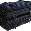 Steel Star Posts, 135cm Black Bitumen.