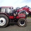 CASE MX5140 Tractor with New Burder 9050 Loader, 3rd Function, Bale Forks included,