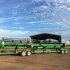 John Deere 640 D Front with Brand New Leith Trailer