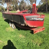 MacDon R80 Rotary Disc, Mower Conditioner Front, In good condition with trailer