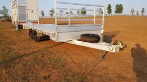 6x2.4m aluminium flat top trailer