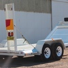 2001 White Goose Neck Plant Tag Trailer For Sale