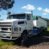 1990 International Transtar 4670 With 1985 White WS  36ft Tipper